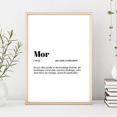 50 års fødselsdagsgave - Personaliseret Plakat Ordbog