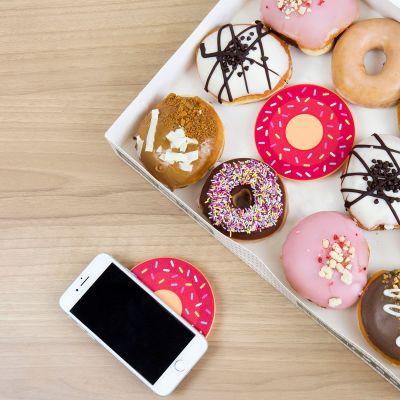 Gadgets til telefonen - Trådløs oplader donut