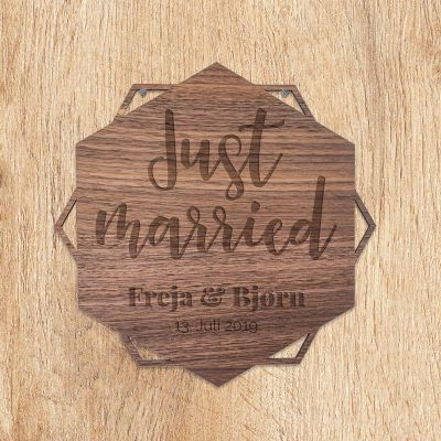 Bryllupsdagsgave - Dørskilt med tekst