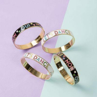 Smykker - Emalje armbånd med tekst