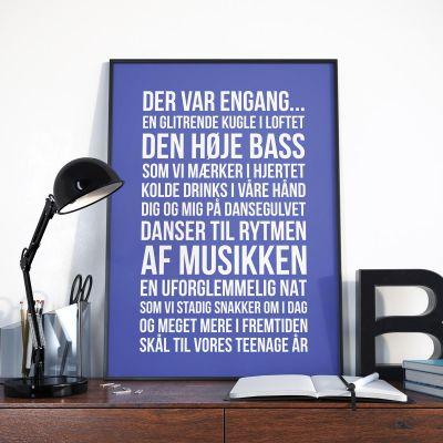 Bryllupsdagsgave - Personaliseret Plakat - Der var engang ...