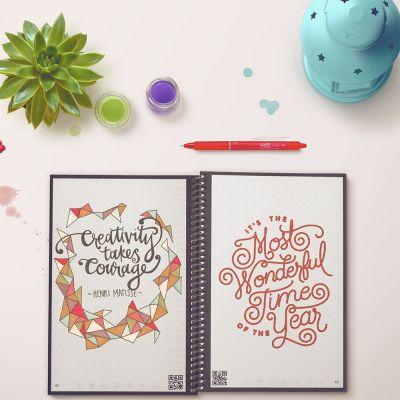 Sjov på kontoret - Genanvendelig Everlast Notebook med Smartphone App