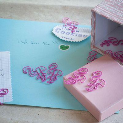 Sjov på kontoret - Flamingo papirclips sæt af 2 pakker