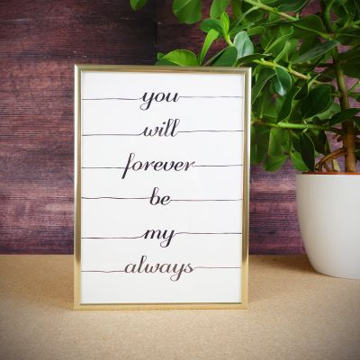 Bryllupsdagsgave - Forever Plakat