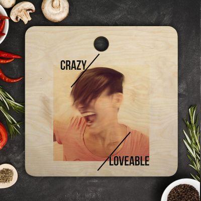 Køkken & grill - Personaliseret skærebræt med foto og tekst