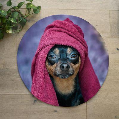 18 års fødselsdagsgave - Personaliseret bademåtte med foto