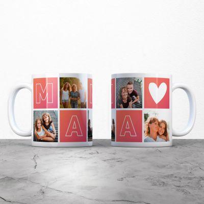Ekslusive kopper og glas - Personaliseret billede krus til mor