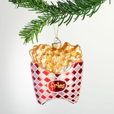 Juledekoration - Pommes Frites juletræsudsmykning