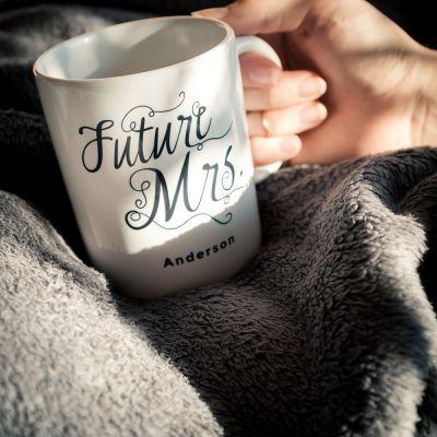 Ekslusive kopper og glas - Personaliseret krus Future Mrs.