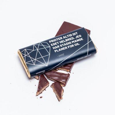 Sødt - Personaliseret Chokolade med tekst