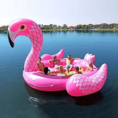 Outdoor - Oppustelig Flamingo ø til 6 personer