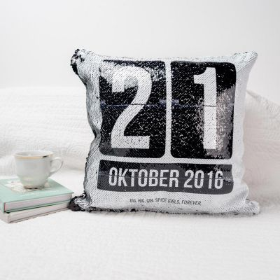 20 års fødselsdagsgave - Personaliseret Pudebetræk med Dato