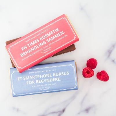 Valentinsgaver til ham - Personligt gavekort med chokolade