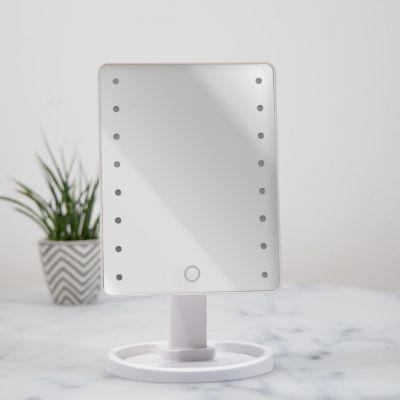 Badeværelse - Hollywoodspejl i hvid med LED