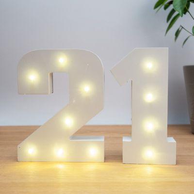 Fødselsdagsgave til en pigeven - Belyste trænumre