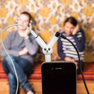 Højtalere & headsets - Jack Rabbit hovedtelefon-splitter
