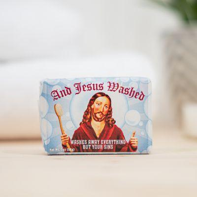 Badeværelse - And Jesus Washed Sæbe