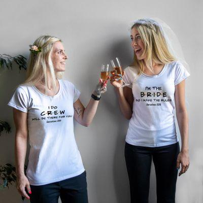 Nyt - Personaliseret t-shirt til brylluppet