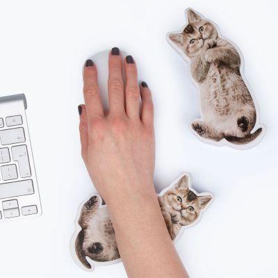 Sjov på kontoret - Håndledsstøtte og stresspude med hund eller kat