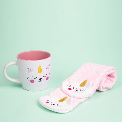 Kopper og glas - Kittycorn sokker og krus