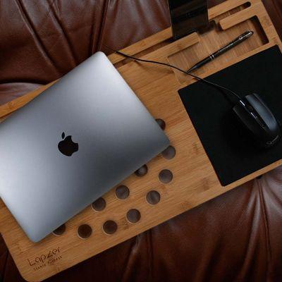 Computer & USB - Laptop underlag i træ