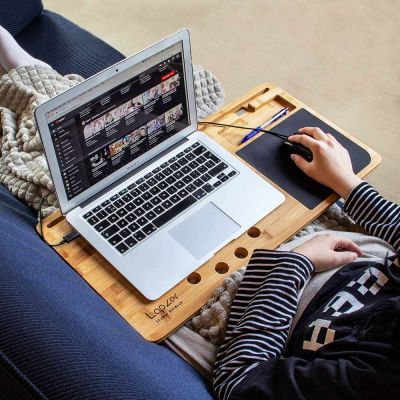 50 års fødselsdagsgave - Laptop underlag i træ