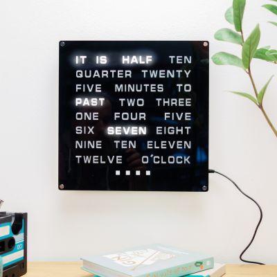 Julegaver til far - Word Clock Maxi LED