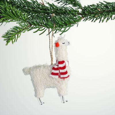 Juledekoration - Lama juletræsudsmykning