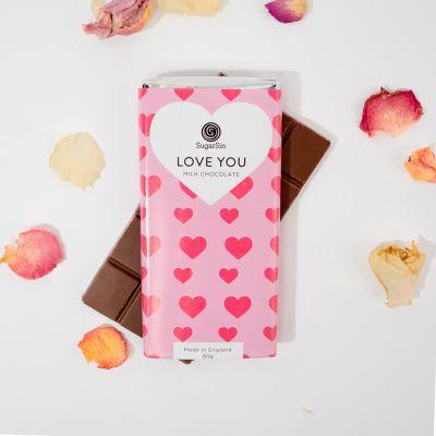 Romantiske gaver - Love You Mælkechokolade