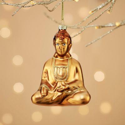 Juledekoration - Glad Buddha Juletræs dekoration