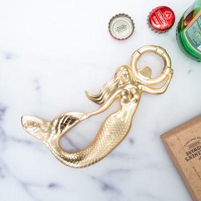 Barudstyr - Havfrue oplukker i guld
