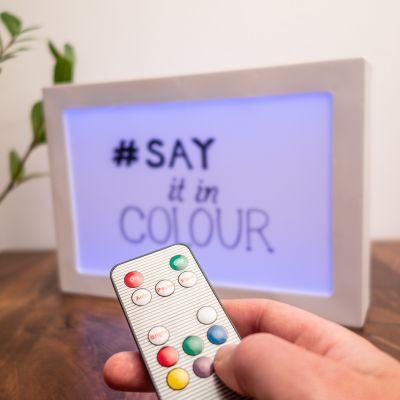 Belysning - Personaliseret lyspanel med farveskift på begge sider