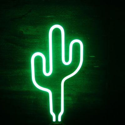 Udsalg - Kaktus neon lampe