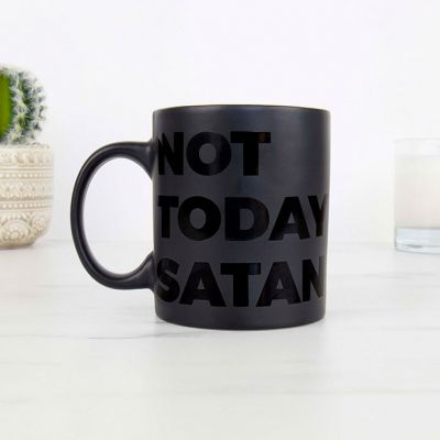 Kopper og glas - Not Today Satan Krus