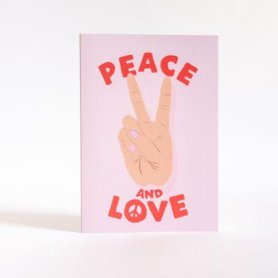 Kort - Lykønskningskort Peace & Love