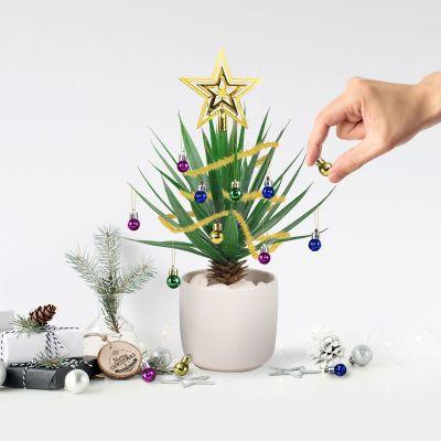 Juledekoration - Juletræspynt til stueplanterne