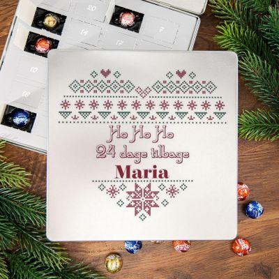Julekalender - Chokoladejulekalender - Nougat i metalboks med hjerte