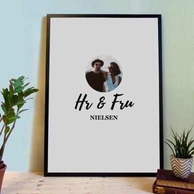 Bryllupsgave - Personaliseret plakat som gæstebog