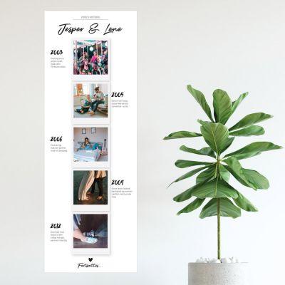 Bryllupsdagsgave - Personaliseret fotoplakat - vores historie