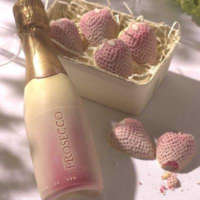 Sødt - Prosecco og chokolade jordbær