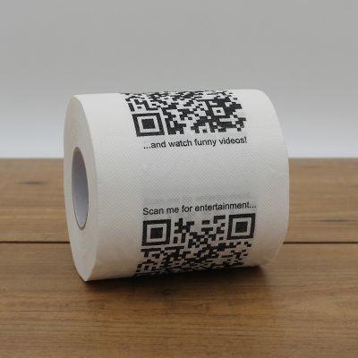 Badeværelse - Toiletpapir med QR-Koder