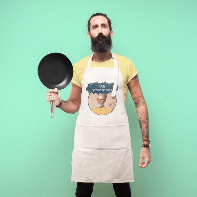 Køkken & grill - Personaliseret forklæde med farve