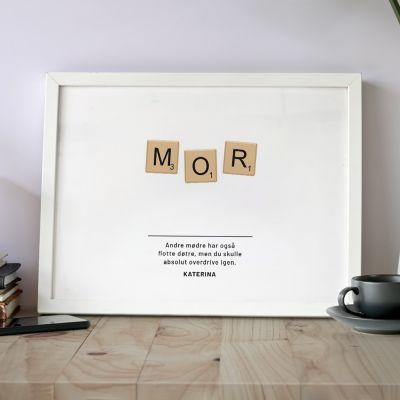 Plakat - Personaliseret Scrabble plakat