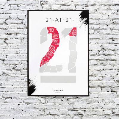Plakat - Skrabe plakat To Do liste for specifik alder