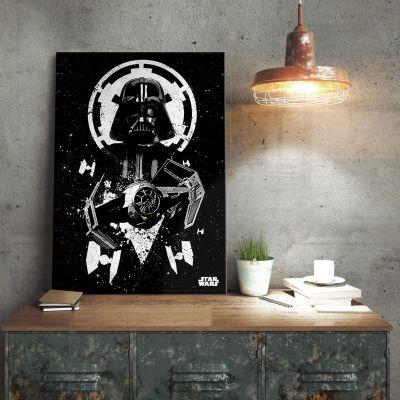 Plakat - Star Wars Metalplakat - Vader TIE Fighter