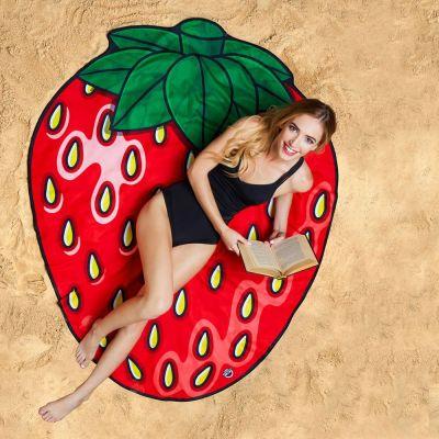 Udendørs - Jordbær Strandhåndklæde