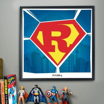 Studentergaver - Superman - Personlig Plakat
