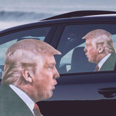 Sjove gaver - Bil klistermærke Trump