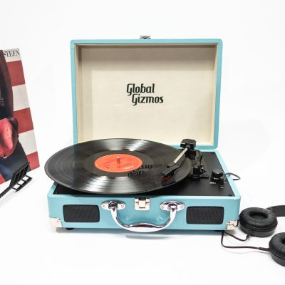 Højtalere & headsets - Retro kuffert pladespiller