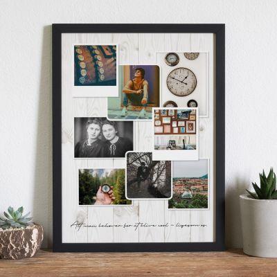 Bryllupsdagsgave - Personaliseret Fotoplakat i Vintage stil